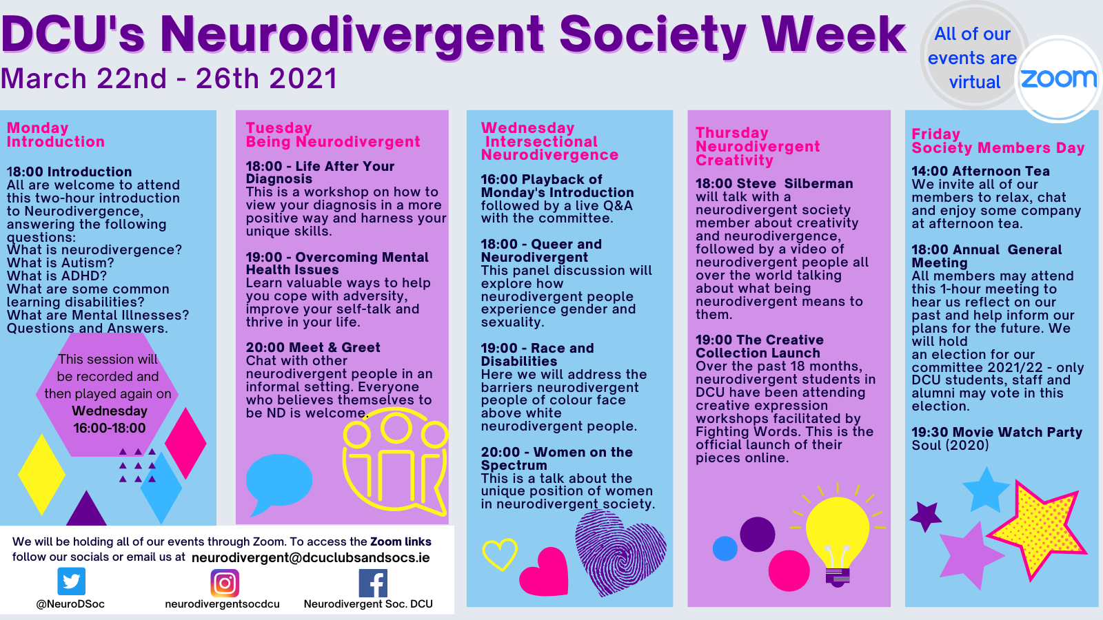 DCU Celebrates Neurodivergent Week!